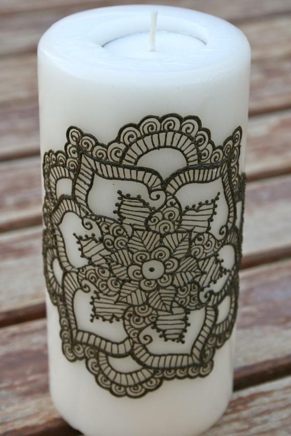 Henna Candles Edible Glitter